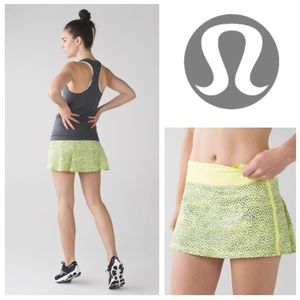 AUTHENTIC lululemon athletica Pace Rival skirt II